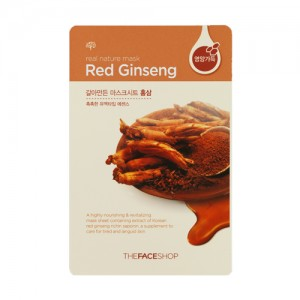 The FACE Shop Real Nature Red Ginseng Mask Sheet