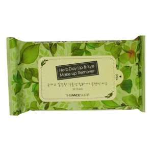 THE FACE SHOP Herb Day Lip & Eye Make-up Remover Tissue